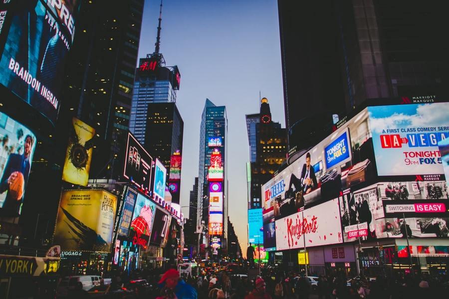 Night view of New York