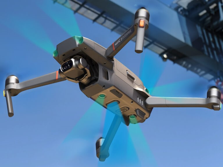 DJI Mavic 2 is flying. PHOTO: credit to DJI's official website