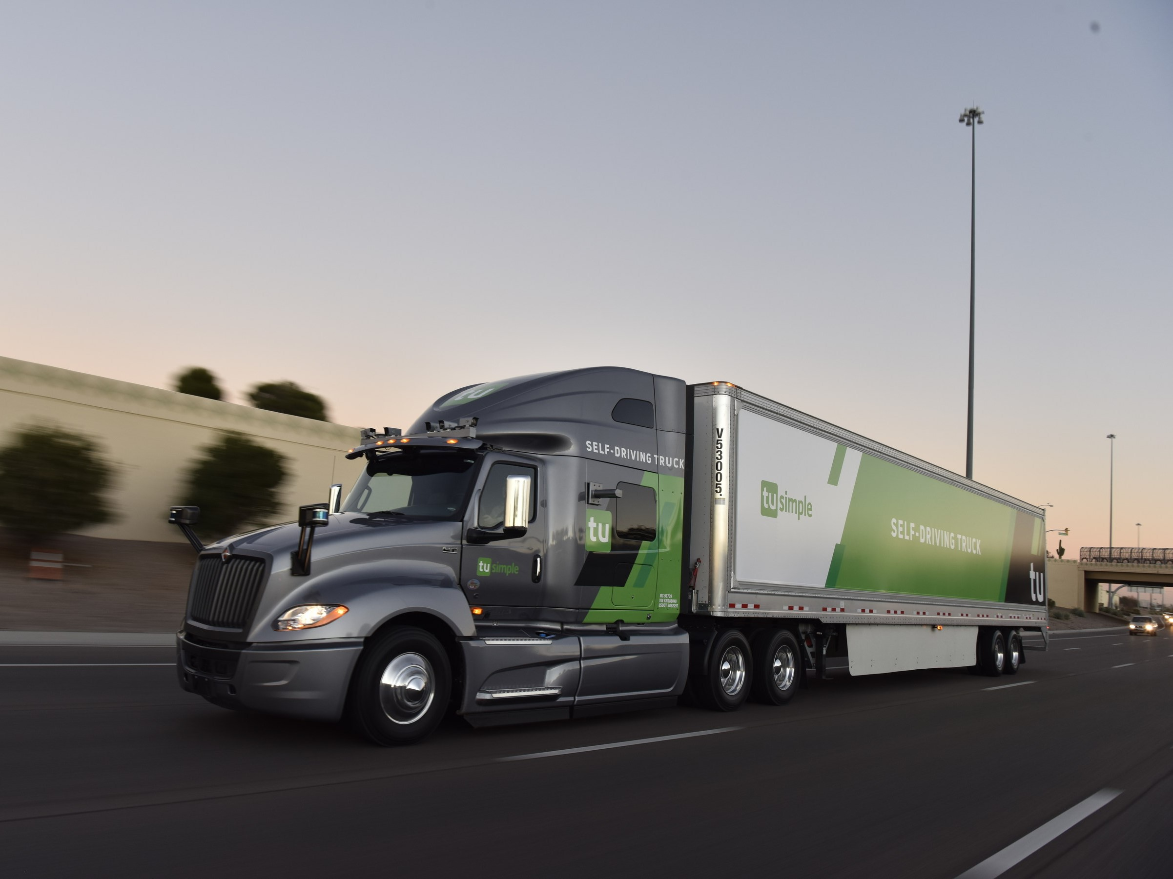 TuSimple's autonomous truck. PHOTO: Credit to TuSimple