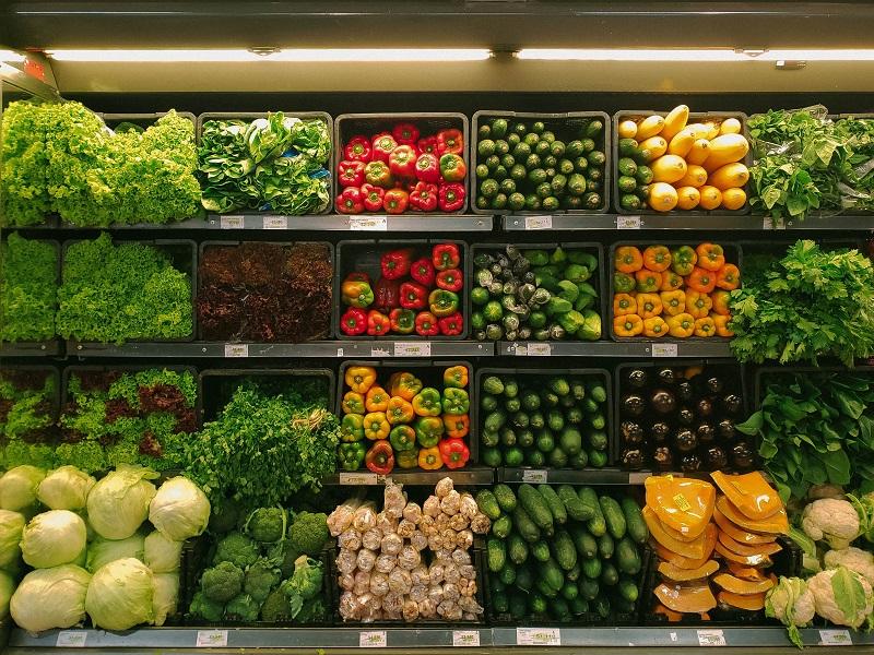 Fresh grocery shelves. Image credit: nrd on Unsplash