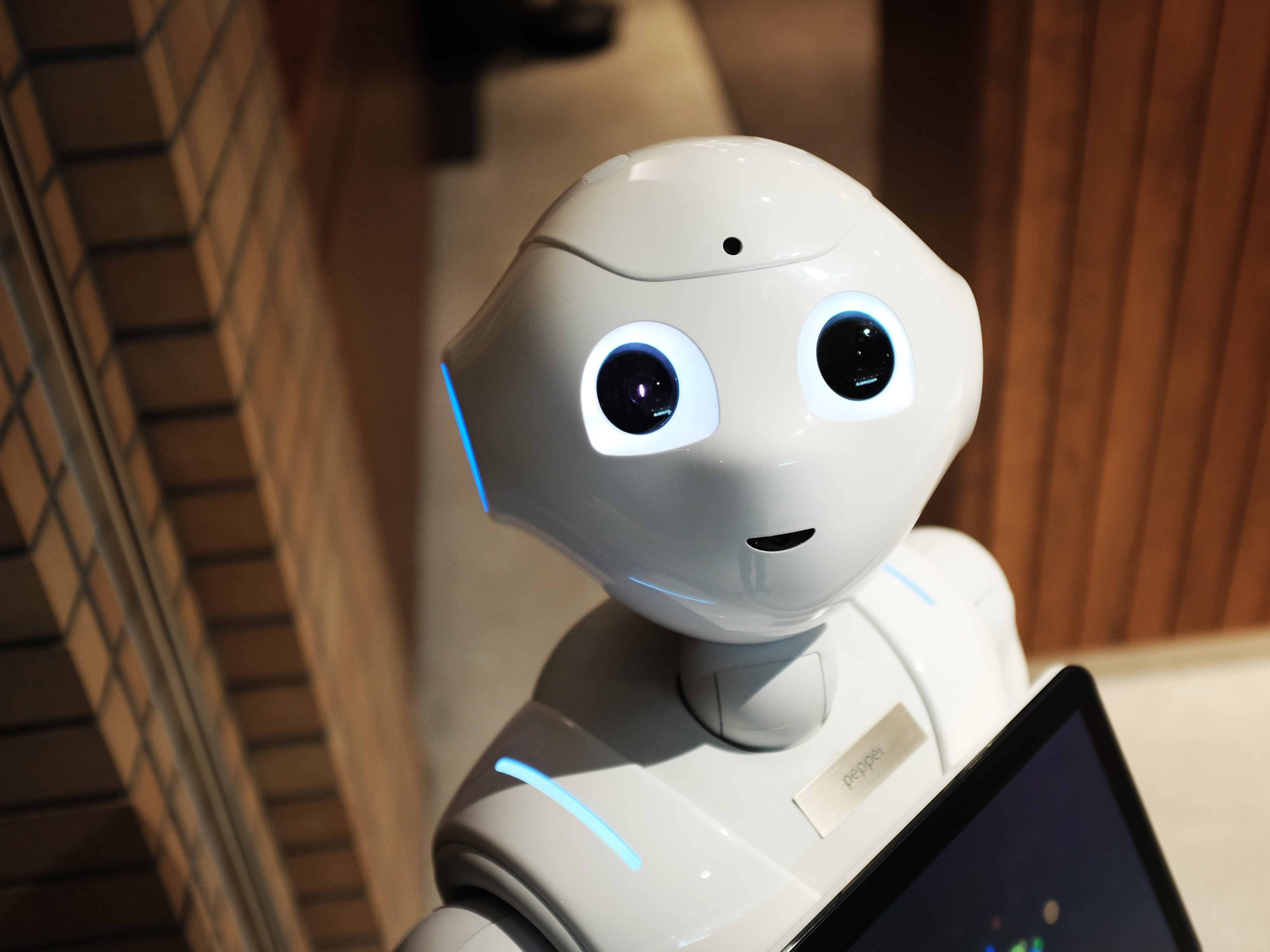 A robot with human feature. Image credit: Unsplash.