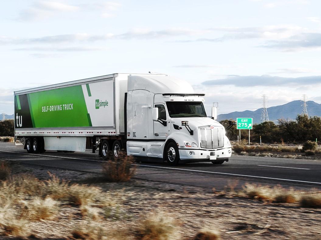 A TuSimple L4 autonomous truck. Image credit: TuSimple