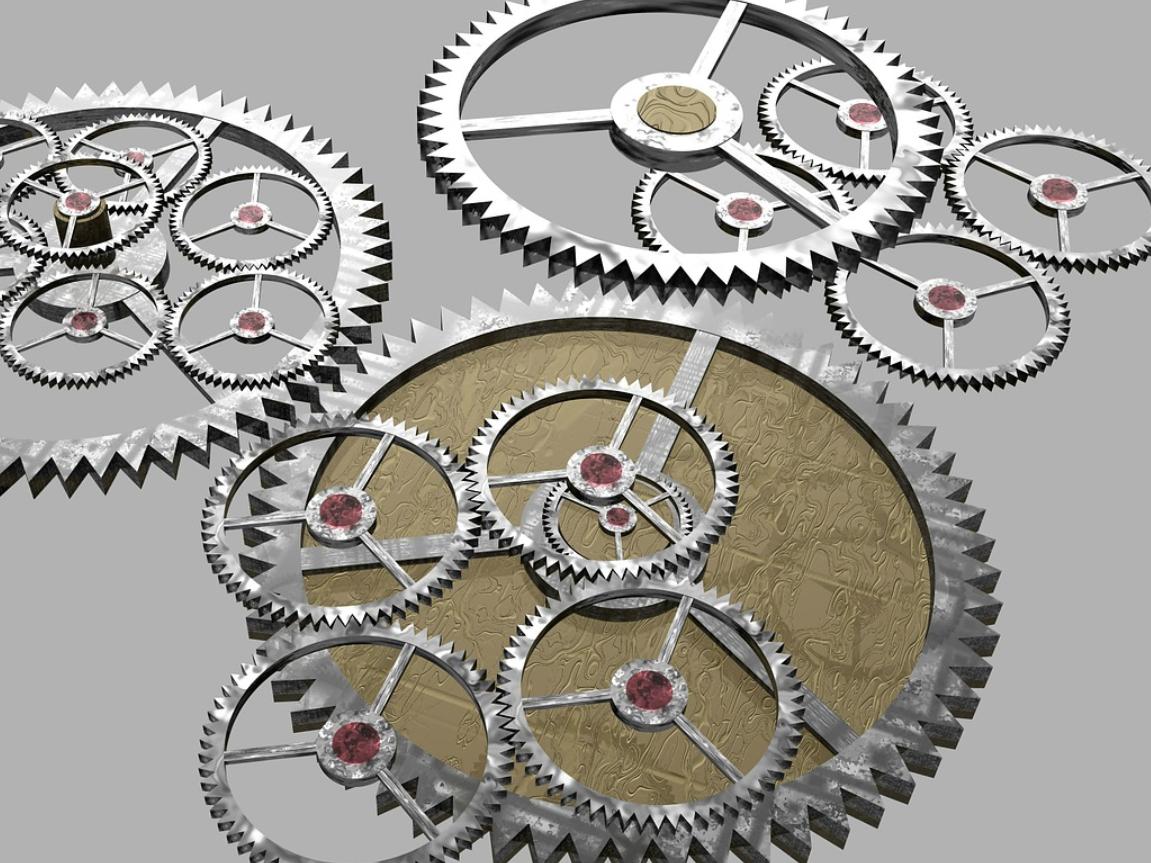 Gears. Image credit : Stevebidmead / Pixabay