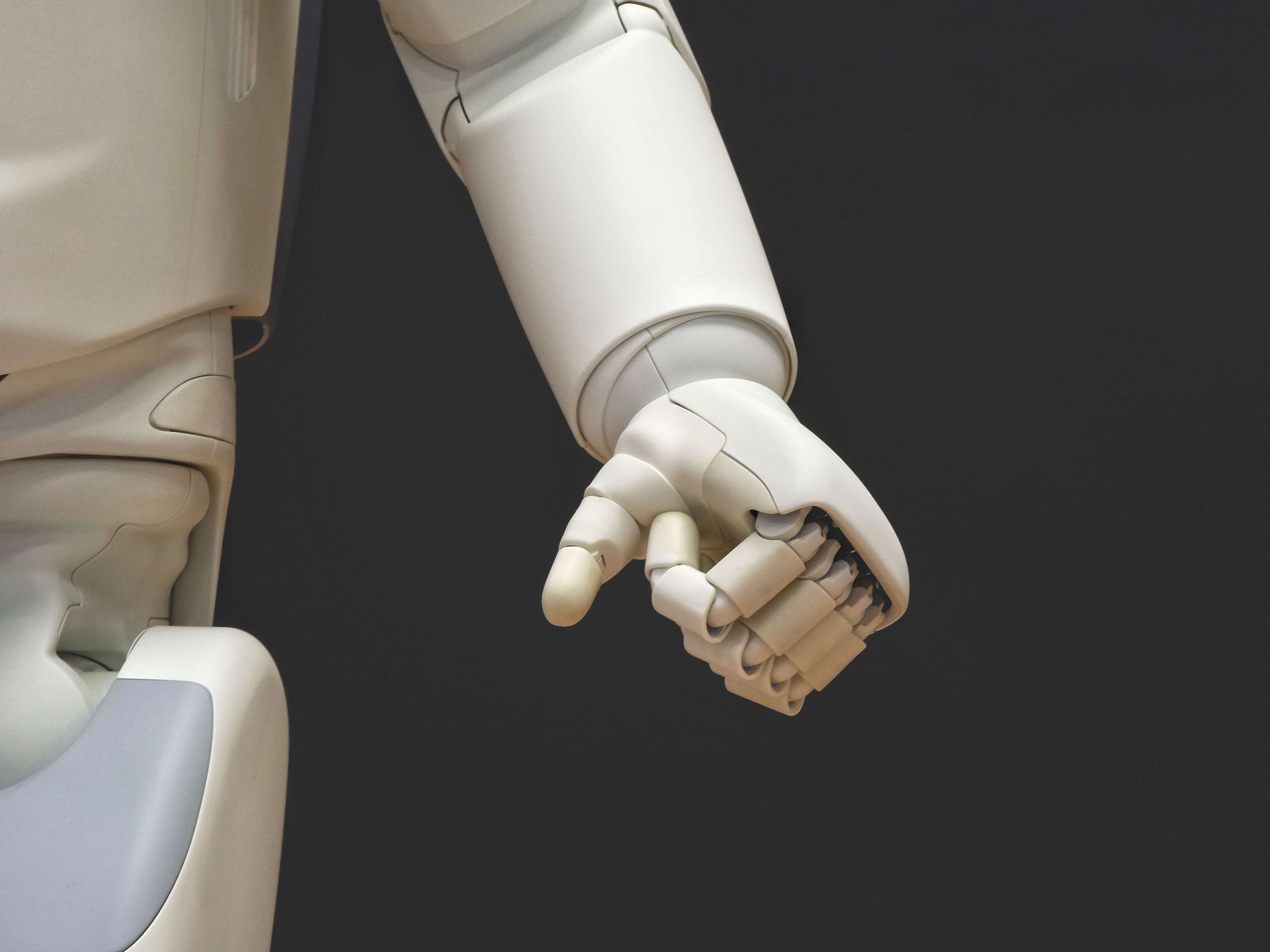 An arm of an AI android. Image credit: Photos Hobby/Unsplash