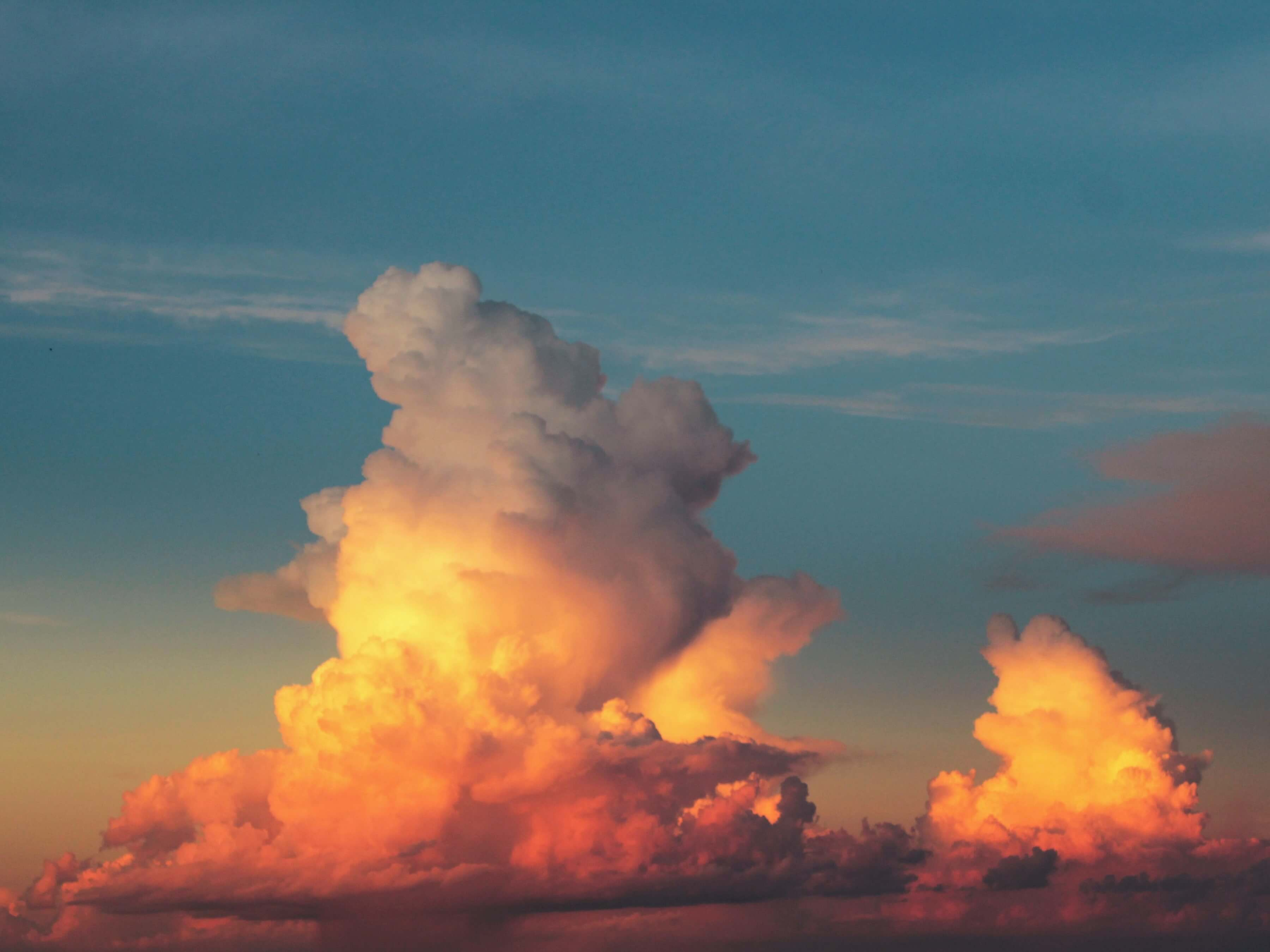 An orange cloud. Image credit: Raquel Pedrotti / Unsplash